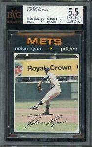 1971 Topps Baseball #513 Nolan Ryan BVG 5.5