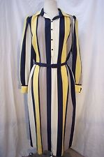 Vintage Nat Kaplan Couture 1970's Striped Maxi Dress w/ Belt Size Small - Medium