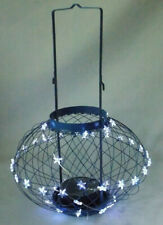 In & Outdoor Blue Solar Lantern Star LED Hanging Light Garden Patio Decor Large