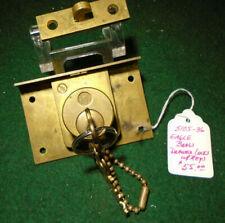 "1898 EAGLE DRAWER LOCK w/TWO KEYS,  1 /8"" DIAMETER - WITH KEEPER!!  (5105-36)"