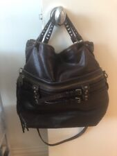 Joelle Hawkens Leather Expresso Victory Bag Crossbody Convertible Bag