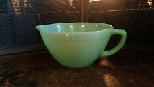 Vintage Fire King Jadeite Jadite Green Batter Mixing Bowl Pour Spout Excellent