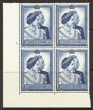 Sg 494 £1 1948 Silver Wedding Cylinder 1 Dot perf type 5(E/I) UNMOUNTED MINT