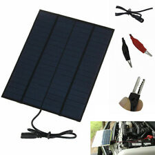 12V 5.5W Home Car Camping Boat Battery Charger Solar Panel with Battery Clip