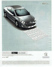 Publicité Advertising 058  2010   Peugeot   407  P pack limited Hdi 110 Fap