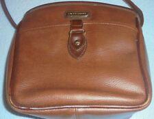 Liz Claiborne Brown Crossbody Organizer Bag Handbag Purse Faux Leather       110