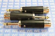 3Stück Adapter XLR-Kupplung 3-polig auf 6,35mm Mono-Klinkenstecker 2-polig