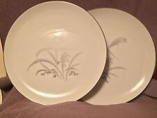 """Wentworth China Silver Wheat Dinner Plates - Set Of 2 (10.5"""")"""