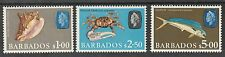 BARBADOS 1966 QEII SEA LIFE TOP 3 VALUES MNH **