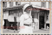 WW2 Street Scene Police Traffic Shop Store Car Vintage B&W Singapore Photo 17715