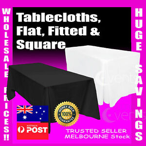 Tablecloths Wedding Table Cloths Trestle Rectangle Market Event Fitted White