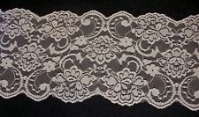 "LOT 31 Yards Vintage Antique Lace Trim Doll Craft Sewing 4 1/2"" Wide White"