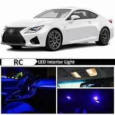 9x Blue LED Lights Interior Package for 2015 & UP LEXUS RC-350 F RC-F