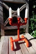 CANDELA Candela Bastone Holder Hand Made Loft RACCORDI TUBO appartamento dinning table Rosso