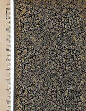 FABRIC FREEDOM GOLD METALLIC ON BLACK    100% Cotton Fabric by the YARD