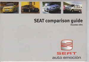 SEAT Comparison Guide AROSA, IBIZA, LEON, TOLEDO, ALHAMBRA, INCA     UK Postfree