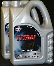 2x4 Liter Fuchs Titan GT1 Pro Flex 5W-30 Motoröl 5W30 Opel dexos2 MB 229.51 BMW