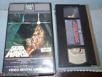 Star Wars VHS  1982 20th Century Fox Video Rental Library Matching Serial # rare