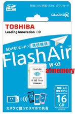 Genuine Toshiba 16GB 16G FlashAir SDHC SD Card Wifi Class 10 Wireless Retail W03