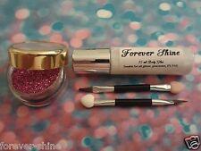 Gold & Silver Lip & eye glitter make up set inc. gilitter brush & glue