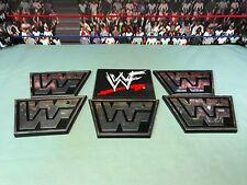 WWE WWF Wrestling Jakks Vintage 6 Figures Display Stands Accessories Lot Attitud