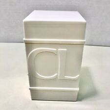 Rare Clinique Vintage Hard Plastic Canister Cosmetic Organizer/Caddy ⭐️Brand New