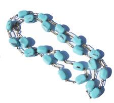 MODESCHMUCK Halskette Vintage Türkis Imitat Länge 61 cm 53 g