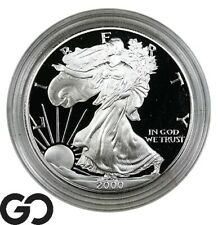 2000 American Eagle Silver Dollar, 1 OZ Fine Silver Bullion PROOF, W/ Box & CoA!
