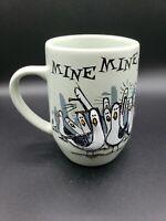 Disney Parks Finding Nemo Seagulls Mine Mine GREEN Ceramic Coffee Mug Cup Pixar