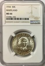 1934 50C Maryland Silver Commemorative NGC MS66