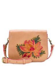 Patricia Nash Painted Lily Rivoli Small Leather Crossbody Bag Italy - SEALED