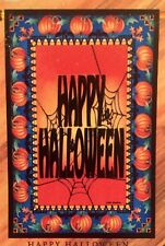Happy Halloween Pumpkin Patch Spider Web Fall Large Yard Flag New