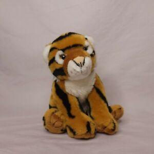 Vintage Animal Alley Tiger Cub Sitting Plush Stuffed Animal 10 in