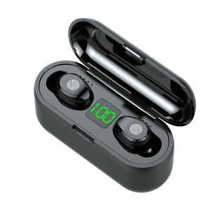Bluetooth 5.0 TWS Wireless Earphones Twins Earbuds Stereo Headset Headphone F9