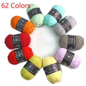 X Skeins Hand Knitting Wool Baby Milk Cotton Crochet Chunky Yarn 50g 62 Colors