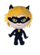 "NEW OFFICIAL 10"" MIRACULOUS PLUSH SOFT TOY CAT NOIR"