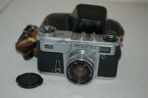 Kiev-4am Vintage 1981 Soviet Rangefinder Camera and Case. 8143493. UK Sale