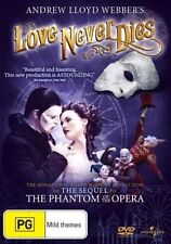Love Never Dies (DVD), Like new, Region: 2,4, free shipping