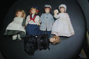"""De Agostini Porzellanpuppen, 5 Stück,Puppen mit Kleidung ohne Magazine """"3"""""""