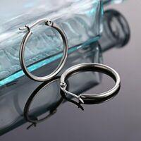 Fashion Stainless Steel Geometry Circle Earrings Dangle Hook Drop Women Hot Gift