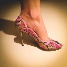 pink snakeskin Gianmarco Lorenzi size 40 brand new still in box from around 2007