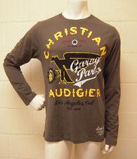 Christian Audigier Garage Parts Flying Shoe L/S Olive (L) NEW
