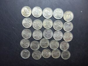 1964  Queen Elizabeth  Sixpences. Bulk Lot. Mint Uncirculated.  25 coins.