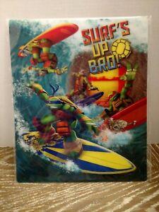 NICKELODEON  Surfs Up Bro Teenage Mutant Ninja Turtles 3D Wall Art 14X11.5