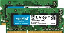 Crucial 16GB Kit (8GBx2) DDR3/DDR3L 1600 MT/S (PC3-12800) Unbuffered SODIMM