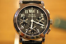 PAUL PICOT BLACK FIRSHIRE RONDE 4094 AUTOMATIC FLYBACK CHRONOGRAPH MEN'S WATCH