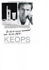 PUBLICITE ADVERTISING  1985    KEOPS   entretien de la peau cosmétiques