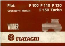 FIAT TRATTORI F100 Unita' , F110, F120, F130 Turbo operatori manuale