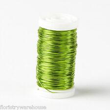Metallic Kabel spule floristik handwerk schmuck Limettengrün