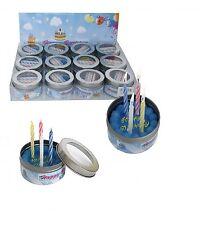 Happy Birthday Display 12 Stück Torte Dose 4 Kerzen